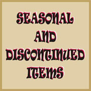 Special sale pricing on Seasonal Items, Ovestocked Items and Discontinued Items.
