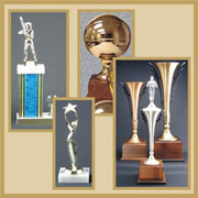 From Traditional Trophies with Plastic Figures to Metal Figures & Cups on wood and marble bases