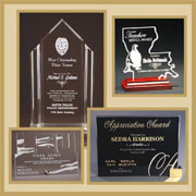 Great option for FAST - CUSTOM SHAPED awards.   Wall & desktop awards, paperweights and ornaments.