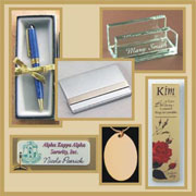 Pens, Business Card Cases, Key Chains, Color Imprinted Mugs, Book Marks and more!
