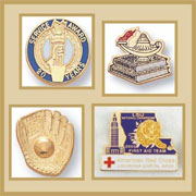 Years of service, sports, education religious, flag pins and more!