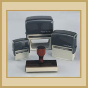 Self inking stamps, Wooden handle stamps and seals for addressing and shipping, check info and deposits, signatures and more!