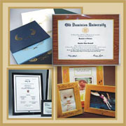 Certificate Folders, Photo and Certificate Plaques and engravable frames.  Laminated plaques preserve your documents for a lifetime!